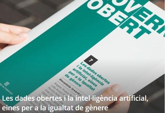 Llibre | Les dades obertes i la intel·ligència artificial, eines per a la igualtat de gènere